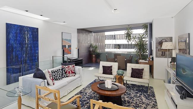 The living room at 111/431 Bourke St, Surry Hills, which sold for $1.065 million. NSW real estate.