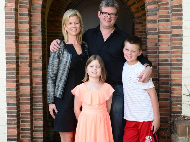 Rick Romanin is primary carer for his kids Jack and Lauren. Picture: Lawrence Pinder