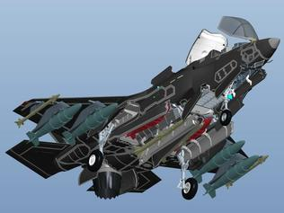 F-35 exposed ... An exploded view of the new stealth fighter.