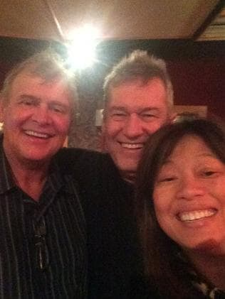 Back together ... Jimmy and Jane Barnes reunite with John Farnham in the studio. Picture: Facebook