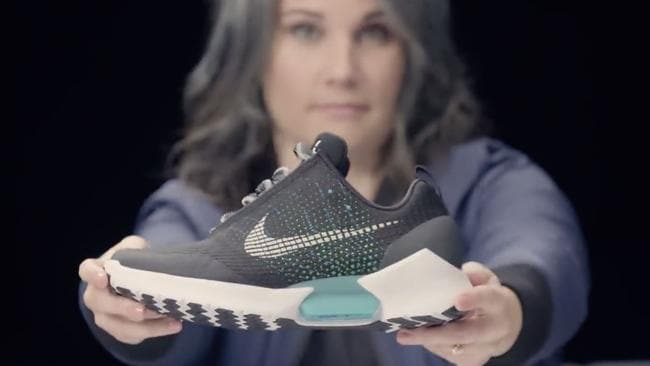 Nike senior innovator Tiffany Beers was the mastermind behind self-lacing technology. Picture: Nike