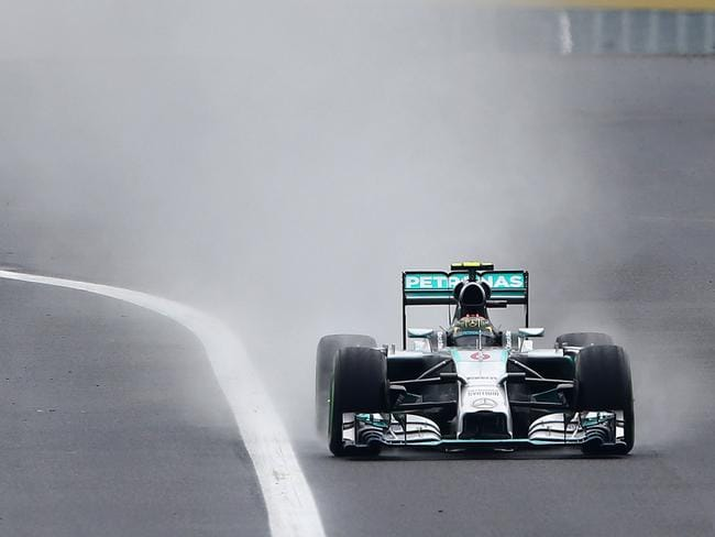 Championship leader Nico Rosberg of Germany and Mercedes misses out on the top five in the revised standings.