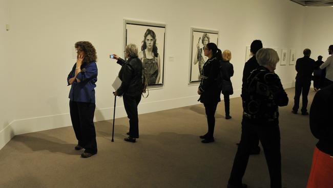 The Richard Avedon exhibition is launched at the Art Gallery of WA.
