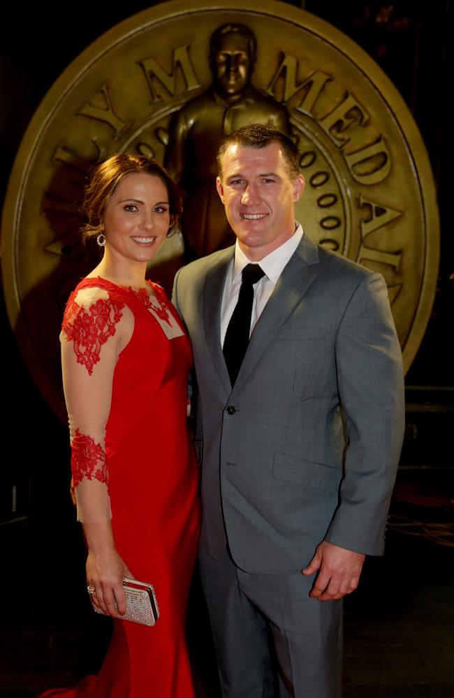 Paul Gallen and wife Anne at the 2013 Dally M Awards. Picture: Gregg Porteous