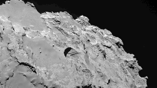 A close-up of the comet that has scientists split.