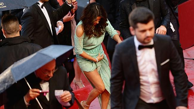 A sky-high split, a drizzly day and an absent pair of knickers spelled disaster for Eva Longoria at Cannes.