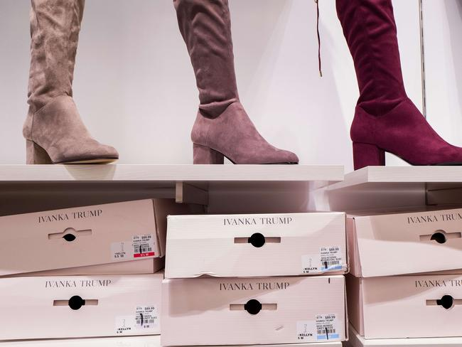 Ivanka Trump brand boots for sale at the Century 21 department store. Picture: Getty