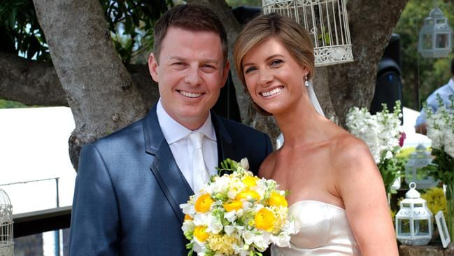 Hitched ... Ben Fordham and Jodie Speers on their wedding day in 2011. Picture: Today Show