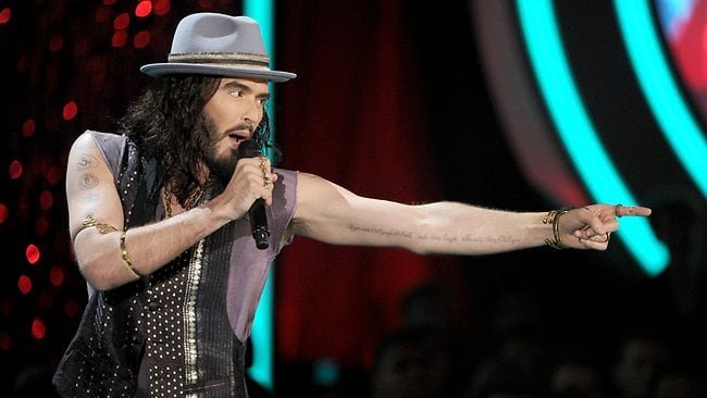 Russell Brand says he once had gay sex in a bar toilet while a TV crew filmed the entire thing. Picture: Getty