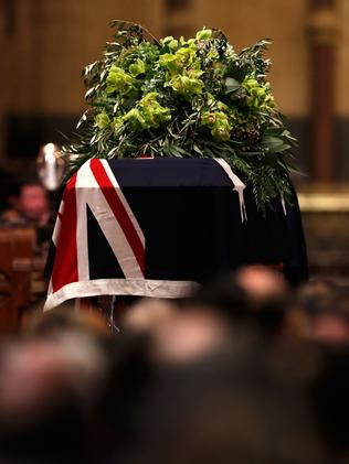 Lou's coffin inside St Paul's. Picture: Getty