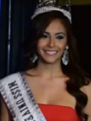 New queen ... Brenda Jimenez is the new Miss Universe Puerto Rico. Picture: YouTube