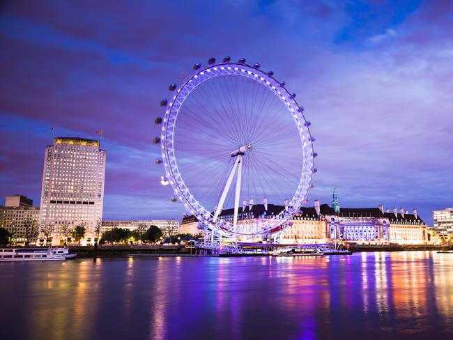 The London Eye has one of the world's longest wait times.
