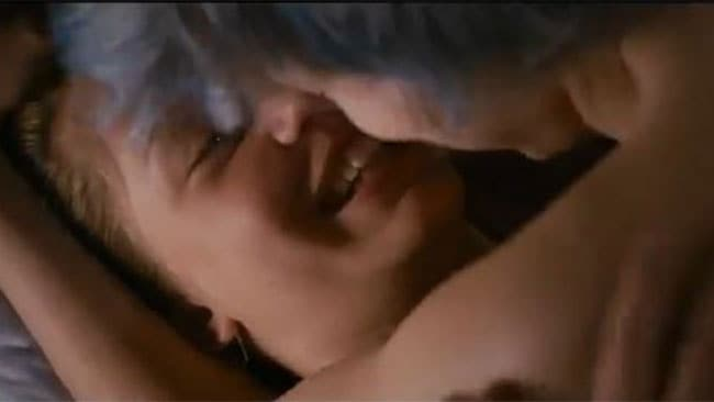 One of the lesbian sex scenes from Blue Is The Warmest Colour which the actors say they spent 10 days filming.