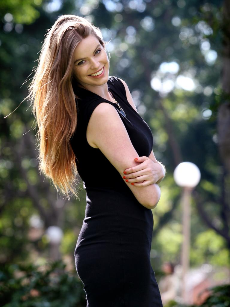 Sydney plus size model Robyn Lawley (22) who will be appearing in the 2011 Mercedes Benz Fashion Festival in Sydney. Picture: Cameron Richardson