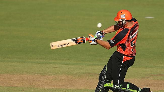 Craig Simmons hits out for the Scorchers.