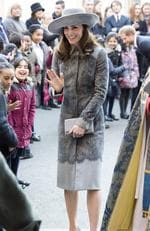Catherine, Duchess of Cambridge meets pupils from from St Matthews State school before attending a Commonwealth Day service at Westminster Abbey on March 14, 2016 in London, United Kingdom. Picture: Getty