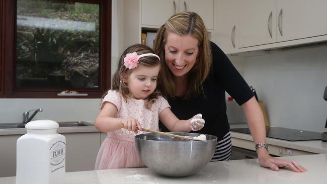 Lesley Simmonds and daughter Isla will take away sweet memories of their Pittwater kitchen.