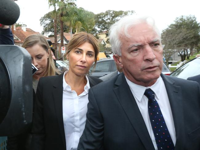 Convicted ... Jodhi Meares entering Waverley Court with lawyer Chris Murphy.