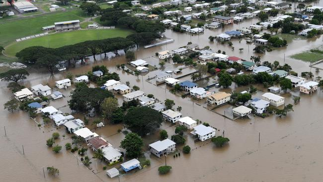 Houses are inundated with flood waters in Ingham, North Queensland. Picture: Dan Peled/AAP