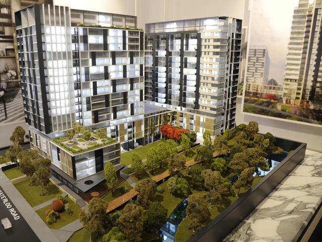 It looks like a glamorous development as a plan, but city futures professor Bill Randolph is worried about what these high density homes in areas like Sydney's Waterloo will look like in the future.