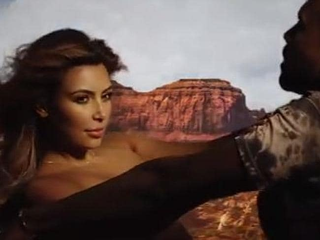 Even this still from Kanye West's Bound 2 video would make Mike Amess throw up. Picture: YouTube
