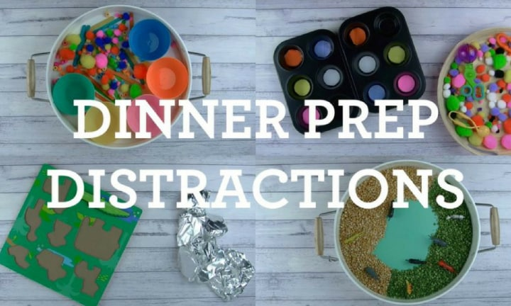 How to make a dinnertime distraction tray