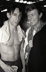 Iggy Pop and David Bowie pose backstage after an 1986 Iggy Pop concert at The Ritz in New York City. Picture: Larry Busacca/WireImage