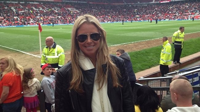 Candice Falzon at the Manchester United vs Chelsea game in England last week.