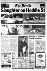 <p>Shock ... front page of The Herald newspaper in the wake of the mass shooting.</p>