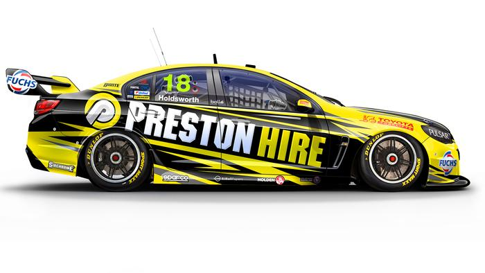 Lee Holdsworth's No. 18 Preston Hire Holden Commodore.