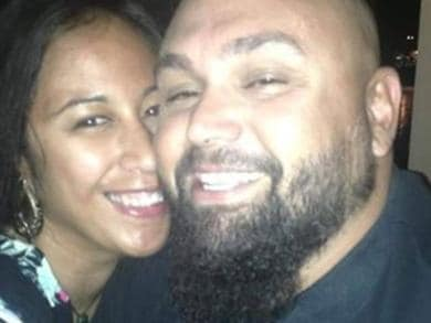 Pictured is Anatoria Headland and husband Jason Headland. Picture taken from social media.