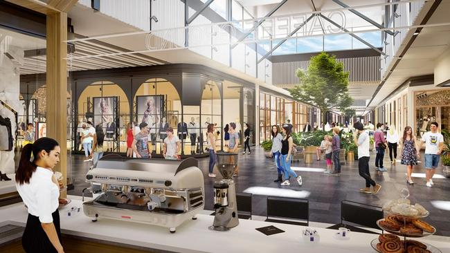 Artist impression of the Westfield Coomera Town Centre. Supplied by Westfield