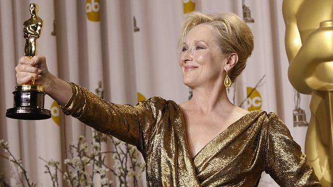 Meryl Streep poses with her Oscar for Best Actress for 'The Iron Lady' during the 84th Academy Awards in Los Angeles, California. Picture: Getty Images.