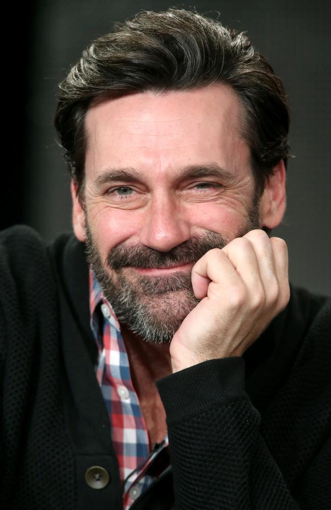 Troubled ... Jon Hamm pictured in January, the month he entered rehab for alcohol addiction.