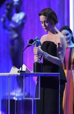 Sarah Paulson, winner of the Outstanding Female Actor in a Televison Movie or Limited Series award for 'The People v. O.J. Simpson: American Crime Story,' speaks onstage during The 23rd Annual Screen Actors Guild Awards. Picture: Getty