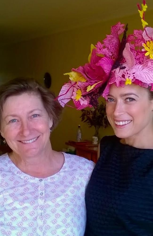 Emily Hunter and her mum Angela Hunter, who made the winning Fashions on the Field dress together. Picture: Supplied.