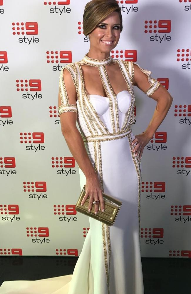 Amber Sherlock in her favourite colour at the 2017 Logies.
