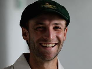 PERTH, AUSTRALIA - DECEMBER 15: Phillip Hughes poses for photograph ahead of an Australian Training Session at the WACA on December 15, 2010 in Perth, Australia. (Photo by Hamish Blair/Getty Images)