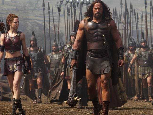 Nice clobber ... Johnson in the role of Hercules in the upcoming movie.