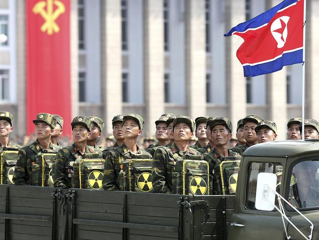 The Kim family have dedicated a huge proportion of North Korea's scant resources to the military in the quest to develop nuclear capability. Picture: AP Photo/Wong Maye-E, File.