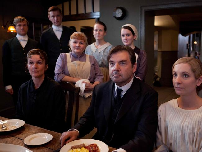 Brendan Coyle with the Downton Abbey cast.