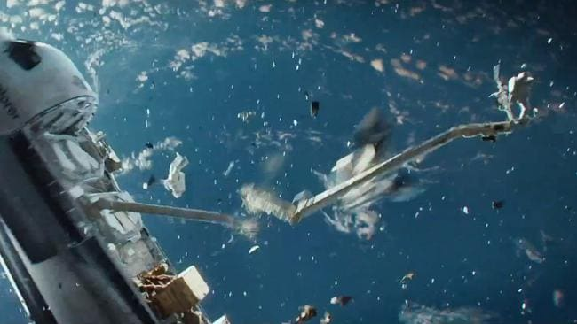 Gravity ... The potential for a space junk disaster was dramatised in the 2013 Hollywood move. Picture: Supplied.