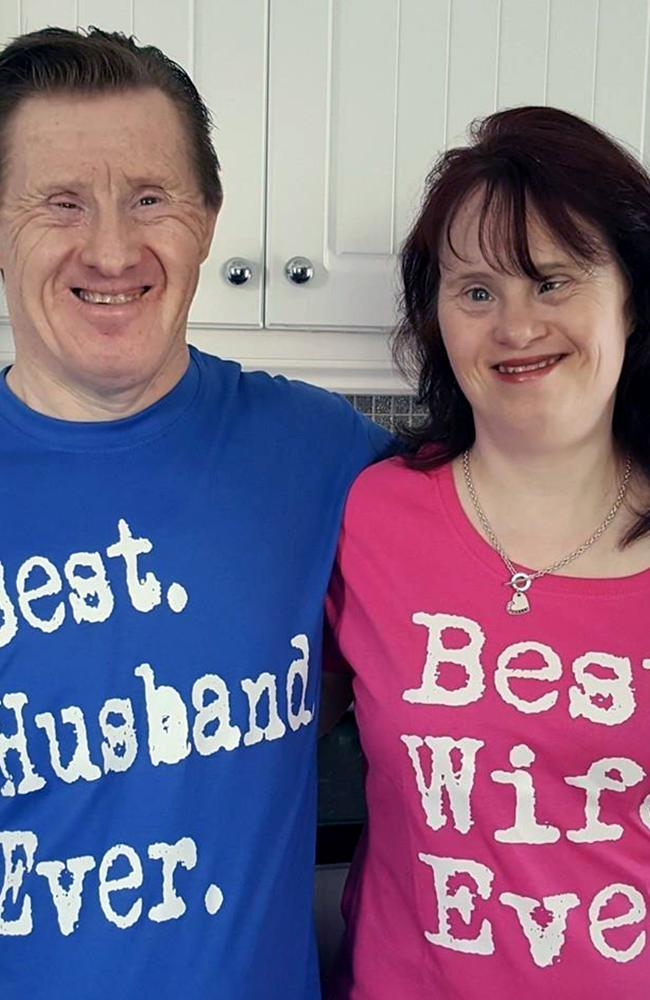 Maryanne and tommy wearing their best husband/wife tops. Picture: Caters