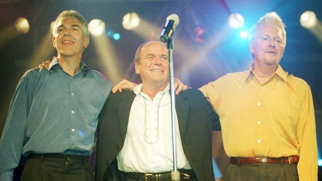 Birtles, Shorrock and Goble reunite in 2002.