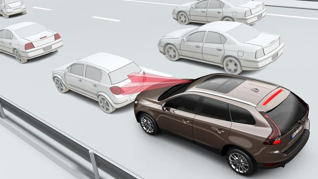 The high number of nose-to-tail crashes comes despite an increasing number of cars equipped with automatic emergency braking. Picture: Supplied.