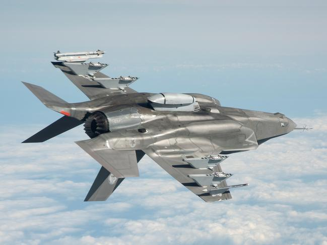 An F-35A is put through its paces during test flights in the United States. Picture: Defence