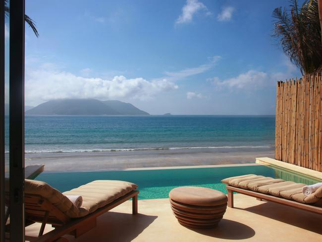 The view from eco-luxury resort Six Senses Con Dao.