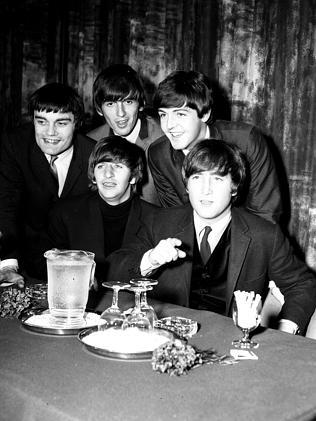 Jimmy Nicol (far left) is the missing Beatle who features in the new exhibition.