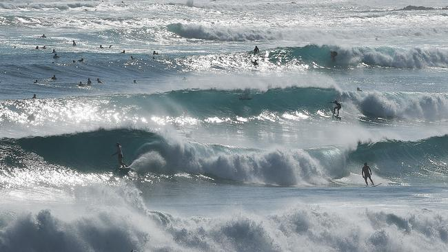 Snapper Rocks earlier today. Picture: AAP/Dave Hunt