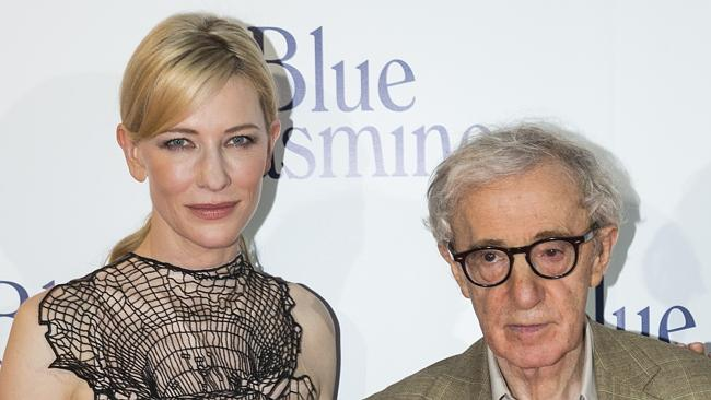 Growing controversy ... Blue Jasmine star Cate Blanchett with the film's director Woody Allen.